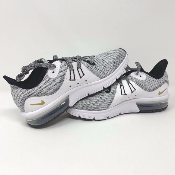 126bfb9c13 Nike Shoes | Air Max Sequent 3 Gs Black White Youth 45 | Poshmark